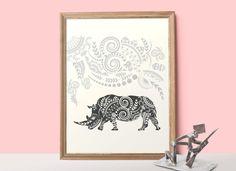 Ornamental Rhino poster
