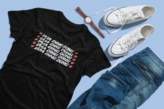 Ja Ja Ding Dong, Fire Saga Gift by FunTeazz on Etsy Metallica T Shirt, Suits You, My Outfit, Cool Shirts, Long Sleeve Shirts, Shirt Designs, Ding Dong, Trending Outfits, Saga