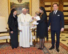 Leonore de Suecia, protagonista en el encuentro con el Papa Francisco