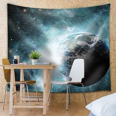 Amazon.com: Wall26® - Astronaut Floating In Space Above earth - Fabric Tapestry, Home Decor - 68x80 inches: Home & Kitchen
