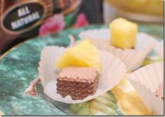 How to cut Pineapple and Quadratini wafer cookies