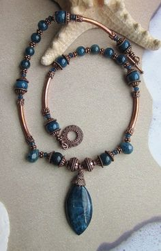Exquisite handcrafted 17 inch long (including toggle closure) Necklace made with semiprecious gemstones of genuine 12mm faceted teardrop/briolette