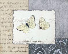 Butterfly Art Print Blue Lace Butterflies 8x10 by MomentsOfArt, $15.00
