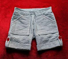 seersucker button-up shorts