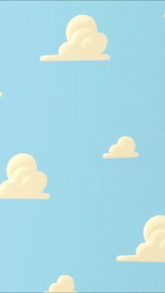 2019 年の「かわいい雲のパターンのiphone壁紙 トイ・ストーリー」 Wallpaper Iphone