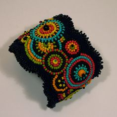 Beaded Cuff Bracelet  Multi Colour by kimpricejewellery on Etsy, $250.00