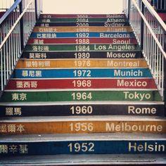 Olympic spirit stairs Us Gymnastics Team, 2012 Summer Olympics, Volunteer Work, Keep Swimming, Just A Game, Winter Games, Stairway To Heaven, Summer Dream, Summer Winter
