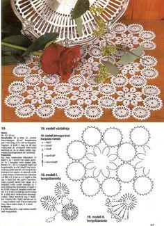 Kira scheme crochet: Scheme crochet no. Free Crochet Doily Patterns, Crochet Doily Diagram, Filet Crochet, Irish Crochet, Crochet Motif, Baby Knitting Patterns, Crochet Lace, Crochet Bedspread, Crochet Tablecloth