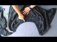 DIY BLOUSE FROM OLD SHIRT - YouTube