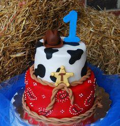Cowboy Cake by Sugar dreams Western Theme Cakes, Western Birthday Cakes, Rodeo Birthday Parties, Cowboy First Birthday, 1st Birthday Boy Themes, 1st Boy Birthday, Birthday Ideas, Cowboy Party, Cowboy Theme