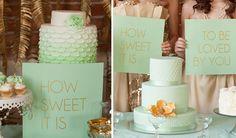 Mint Wedding Cakes