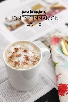 How to make a honey cinnamon latte at home without an espresso machine!                                                                                                                                                      More
