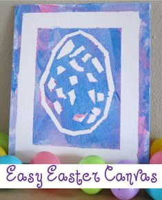 Easter Relief Painting - Sticky tape