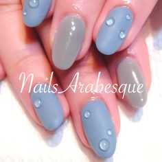 Water Drop Nail Art