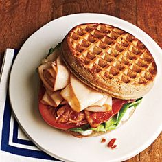 Chicken and Waffle Sandwiches | MyRecipes.com