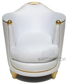 """french art deco gilded bergeres / arm chairs - pair-- As my mother used to say, Don't get white, it will get all schmutzy"""" Jewish word meaning """"dirty"""""""