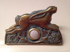 New ☆Flora & Fauna Bunny Rabbit Door Bell☆ Doorbell Solid Recycle Brass CVDB18 #FloraFauna