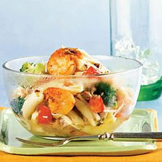 Satisfy your early summer seafood craving with this white clam sauce and shrimp #recipe . #dinner