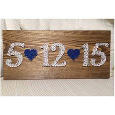 CUSTOM Date String Art Sign Wedding Anniversary by KiwiStrings