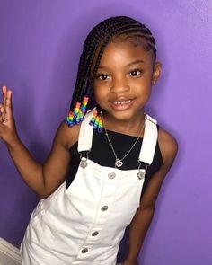 Black Kids Braids Hairstyles, Toddler Braided Hairstyles, Toddler Braids, Baby Girl Hairstyles, Kids Cornrow Hairstyles, Kids Braids With Beads, Braids For Kids, Girls Braids, Kid Braid Styles