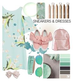"""""""sneakers & dresses"""" by pretty0329 ❤ liked on Polyvore featuring MANGO, Seed Design, Harper & Blake, Joshua's, Ray-Ban, Diane Von Furstenberg and Cara"""