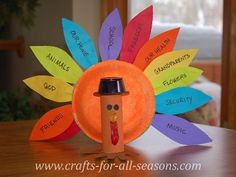 Crafts for kids: 7 ideas for fall - Today's Parent  Thankful Craft- each feather has what they are thankful for