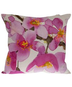 pink watercolor cushion