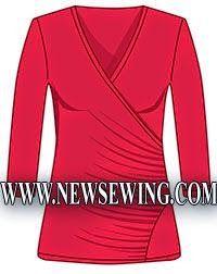 Patrón gratis: blusa cruzada con drapeado - yo elijo Coser