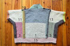 yarn Stash Garter Stitch - Penguono pattern by Stephen West. Knitting Designs, Knitting Projects, Freeform Crochet, Knit Crochet, I Cord, Seed Stitch, Garter Stitch, Crochet Clothes, Pulls