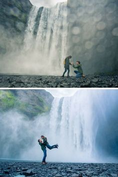 He popped the question under the most beautiful waterfall, and the full story is so romantic!