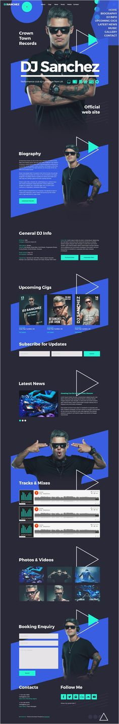 ProDJ is a professional responsive @Adobe #Muse template for #DJs, producers, musicians and bands website Download Now➯ https://themeforest.net/item/prodj-creative-dj-producer-site-muse-template/17260465?ref=Datasata