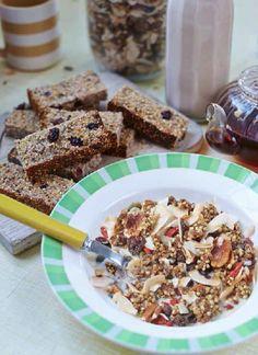 Cinnamon and buckwheat crunch granola