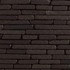 Revestimento Fileto de Mármore Preto Molhado Telado