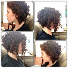 just ignore the quality of these photos! Curly asymmetrical bob