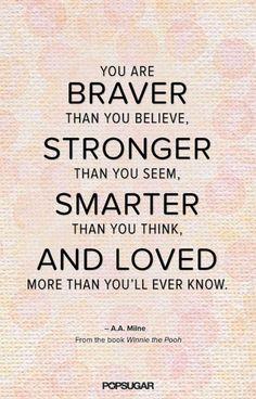 You are braver than you believe. #ThinkBIGSundayWithMarsha #QuotesOfTheDay