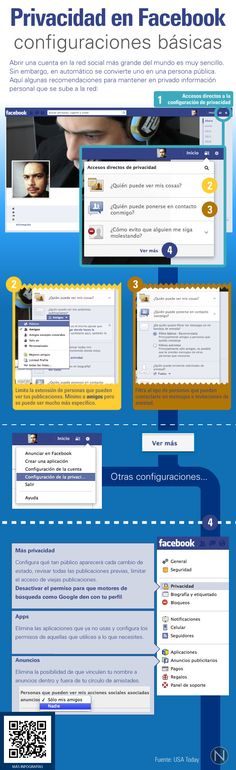 Privacidad en FaceBook: configuraciones básicas #infografia Seo Marketing, Internet Marketing, Online Marketing, Social Media Marketing, Digital Marketing, Latest Technology Gadgets, Computer Technology, Social Media Cheat Sheet, Spanish Teacher