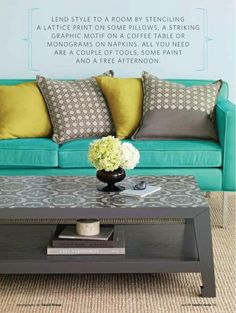 """I love these colors in the living room! it looks so """"happy"""""""