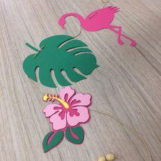 Flamingo Party, Flamingo Birthday, Luau Birthday, Fiesta Theme Party, Safari Party, Safari Decorations, Birthday Decorations, Paper Crafts For Kids, Diy Arts And Crafts