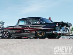Outlaw Pro Mod Race Cars 55 chevy | 2011 Street Car Super Nationals 50S Chevy