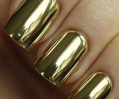 gold metalic nails