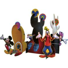 "Mickey's Clubhouse Centerpiece by Hallmark Marketing Corporation. $9.99. High quality!. Based on the popular character Mickey Mouse and his friends!. 3-D. Great for parties!. Kids will love this beautiful table centerpiece.. Each Mickey 3-D Centerpiece measures 15"" high and features Mickey, Goofy and Minnie around a set of Mouse Ears."