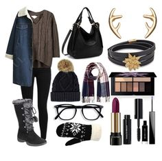 """""""Untitled #2145"""" by ltguuk ❤ liked on Polyvore featuring Levi's, Lipsy, WithChic, Atelier Swarovski, Smashbox, Lancôme, Bobbi Brown Cosmetics and Givenchy"""