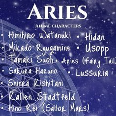 Zodiac Sign: Aries | Anime Amino