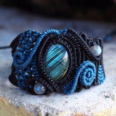 Macrame Bracelet  Labradorite Quartz Jewelry Stones Hippie Handmade Bohemian #Handmade #Wrap