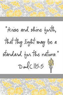 Arise and Shine Forth printable