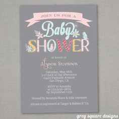 Baby Shower Invitation-Girl - great idea to have this printable invite printed @ Staples or Kinkos.