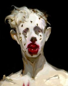 Michael Hussar creates these alienated, somewhat horrifying figures...if you've ever struggled with depression, you know what he is talking about. I love this, though it's not pretty, because paradoxically it makes me feel less alone, less strange.