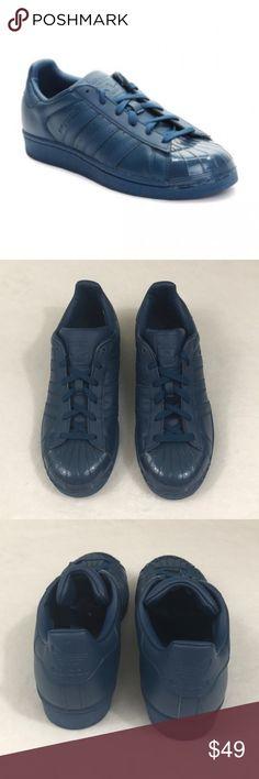 NEW Adidas Superstar Sneakers Dark Blue Glossy Toe New without box Adidas  Superstar sneakers 753cc5bc4