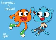 Gumball and Darwin for the Amazing World of Gumball. Gumball and Darwin Gumball Image, Birthday Painting, Baby Halloween Costumes For Boys, Color Palette Challenge, Cute Paintings, World Of Gumball, Alphabet For Kids, Mini Canvas Art, Cute Memes