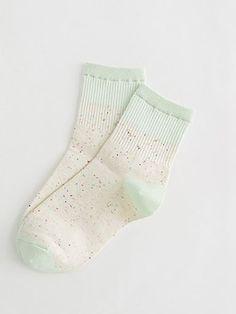 Green Little Dot Print Socks